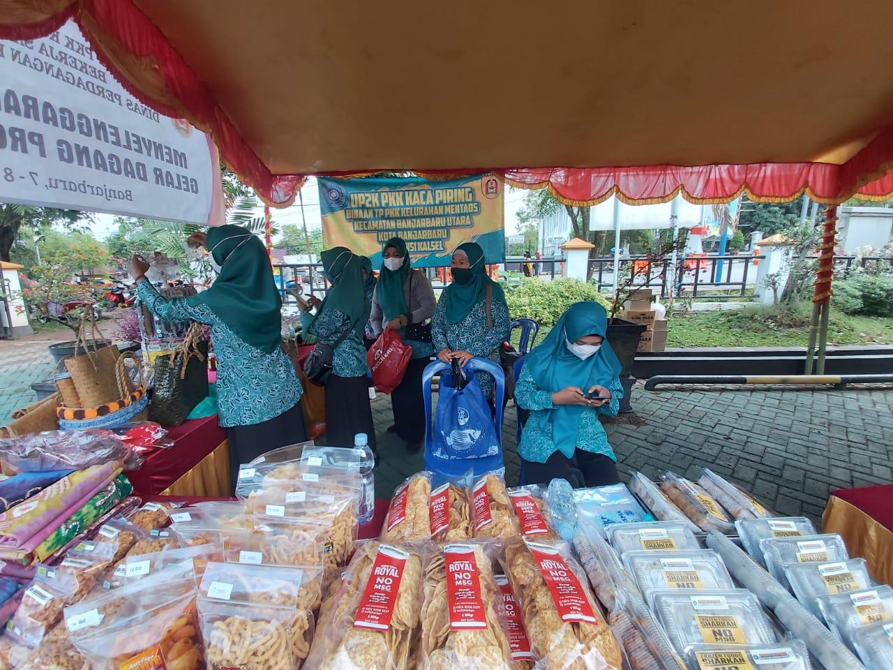 Bazaar yang diselenggarakan Oleh TIM PKK Kota Banjarbaru